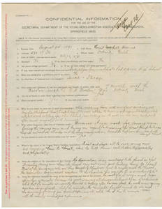 Application for Ernest Hildner (August 24, 1891)