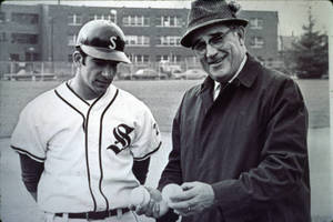Archie Allen with Baseball Player