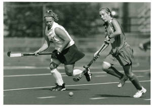 Abby Perham playing Field Hockey