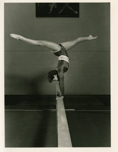 Diane Casella on the balance beam