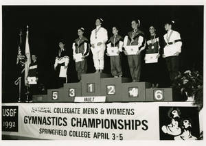 1992 USGF women's gymnastics championship award ceremony for vault