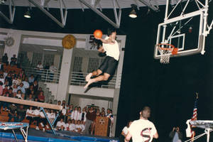 Basketball shot during the 1991 Springfield College Homeshow (Nov. 16, 1991)