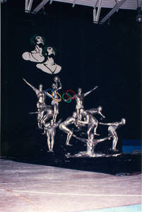 Springfield College men's Olympic tableaux performed at the 1992 USGF Championships