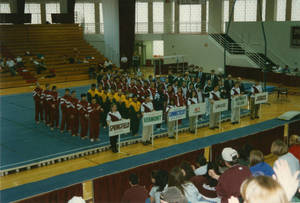 Springfield College men's gymnastics team at New England Championship (March 2, 1997)