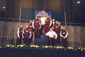 Springfield College men's gymnastics team USGF Championship (April, 2001)