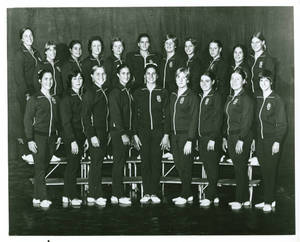 1975-1976 Springfield College women's gymnastics team