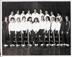 1979-1980 Springfield College women's gymnastics team