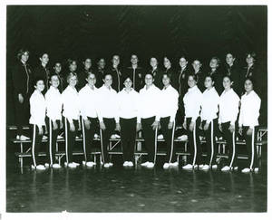 1977-1978 Springfield College women's gymnastics team portrait