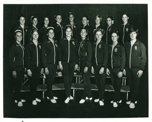 1974-1975 Springfield College women's gymnastics team