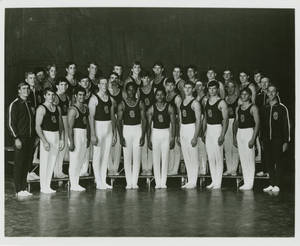 1976-1977 Springfield College men's gymnastics team