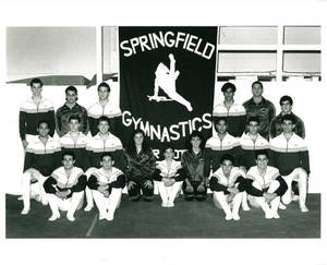 1990-1991 Springfield College men's gymnastics team