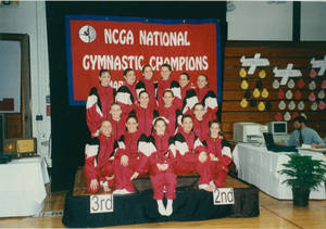 1995-1996 Springfield College women's gymnastics team NCGA Championships (March 1996)