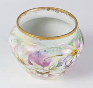 1897 floral painted porcelain vase