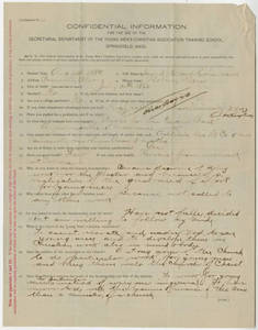Application for Willard S. Richardson, 1889
