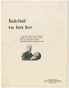 Basketball was born here by Joseph D. Bates (1956)