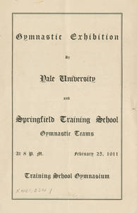Gymnastic Exhibition brochure (February 25, 1911)