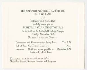 Basketball commemoration day invitation