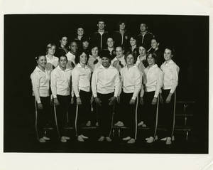 1980-1981 Springfield College women's gymnastics team