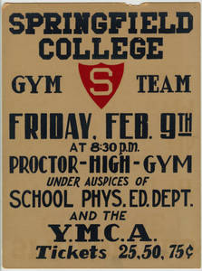 Springfield College exhibition performance poster