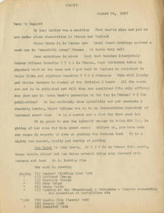 Captain Frank B. Wilson to Dr. Lawrence L. Doggett (August 23, 1917)