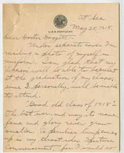Charles D. Todd to Lawrence L. Doggett (May 25, 1918)