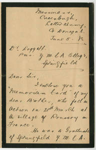 Annie Wilkinson to Dr. Laurence L. Doggett (June 5, 1918)