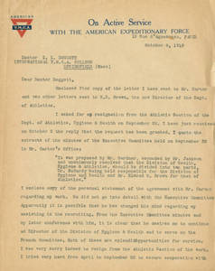 Dr. James H. McCurdy to Dr. Laurence L. Doggett (October 4, 1918)