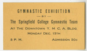 Gymnastic Exhibition admission ticket (December 15, 1924)