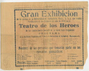 Gymnastic Exhibition newspaper article (January 1, 1925)