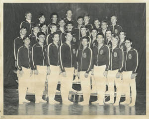 1979-1980 Springfield College men's gymnastics team