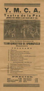 International Tour men's gymnastics flyer (January, 1925)