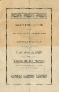 Gymnastics Exhibition program (January 1, 1925)