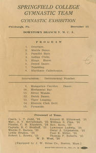 Gymnastic Exhibition program (December 15, 1924)