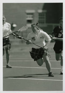 Springfield College women's lacrosse action shot
