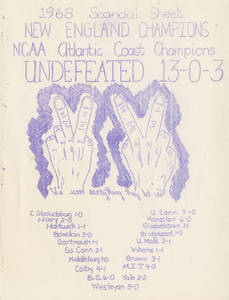 1968 Springfield College men's soccer scandal sheet