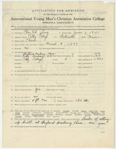 Application for Song Junfu (Chin Foh Song), 1921