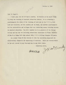 Letter from James H. McCurdy to Laurence L. Doggett (Oct. 6, 1923)