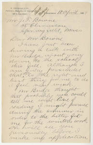 Letter from Thomas D. Patton to Jacob T. Bowne (April 10, 1888)