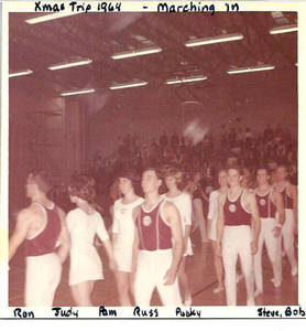 SC gymnasts marching (1964)