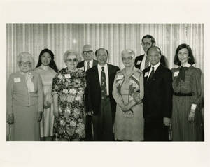 Group photo with Ma Qiwei, May 13, 1984