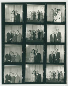 Contact sheet from Springfield College Commencement, 1984