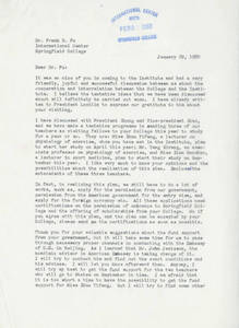 Letter from Ma Qiwei to Frank Fu (January 29, 1980)