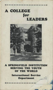 A College for Leaders: A Springfield Institution Serving the Youth of the World