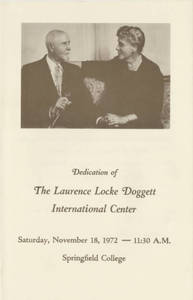 The dedication of The Laurence Locke Doggett International Center program (November 18, 1972)