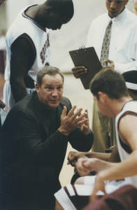 Charles Brock talking to players on the bench (2000)