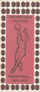 Brochure for the 1974-75 Springfield College Basketball Team