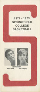 Brochure for the 1972-73 Springfield College Basketball Team
