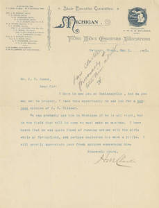 A letter from H. M. Clarke to Jacob T. Bowne (May 3, 1893)