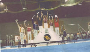 Mike Viola number 1 at NCAA DIV II Championships in Still Rings (1981)