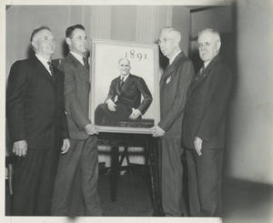 The 1941 50th celebration painting of Dr. James Naismith